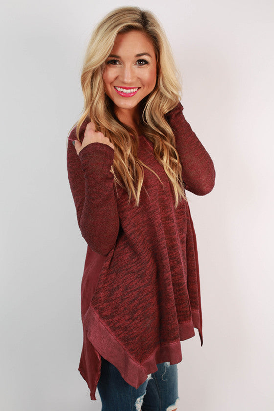 The After Party Slub Tunic in Ruby Wine