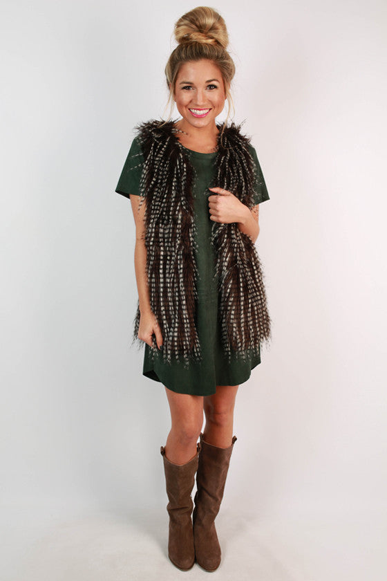 Prosecco At The Plaza Faux Fur Vest