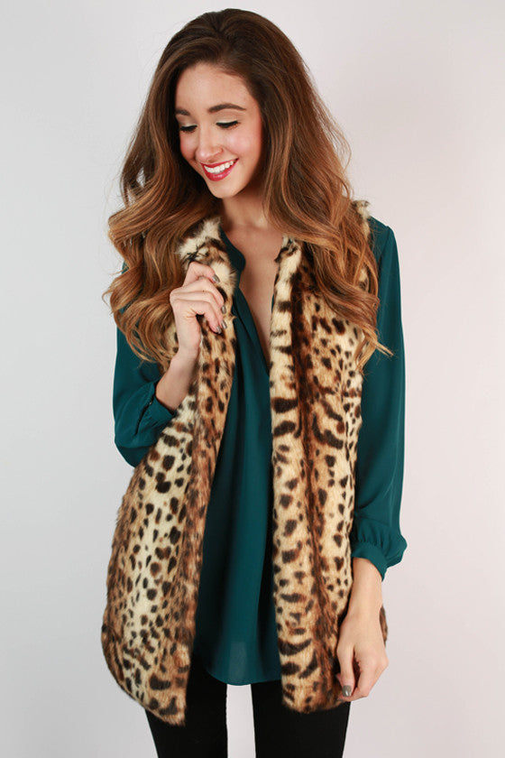 Feeling French Faux Fur Vest