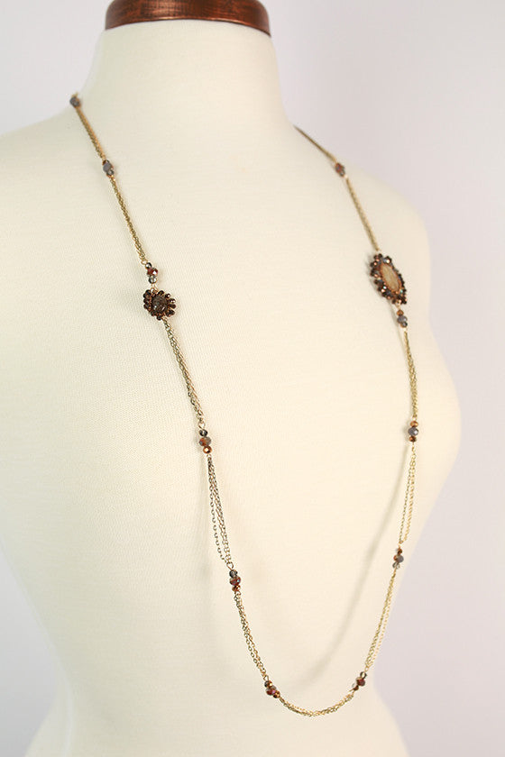 Happy To Be Glam Necklace in Ivory