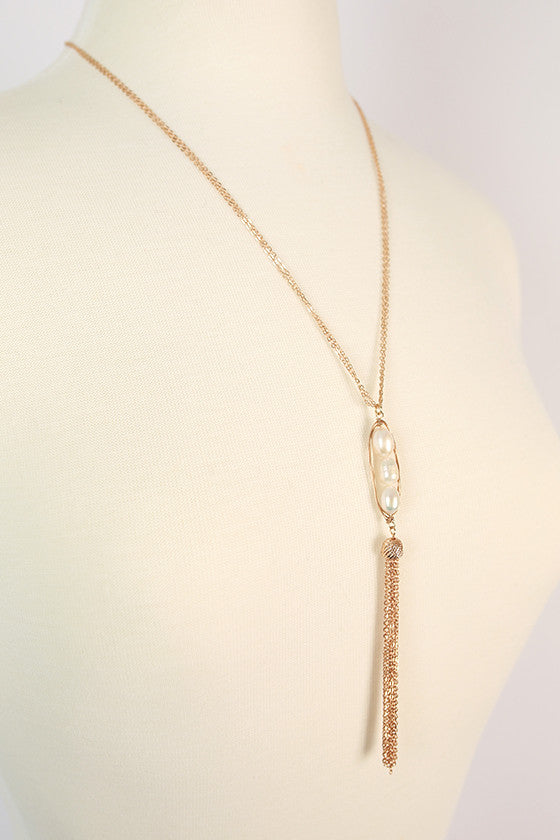 Florence Fresh Water Pearl Tassel Necklace
