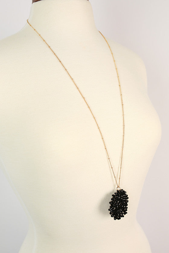 Sparkle For Days Necklace in Black