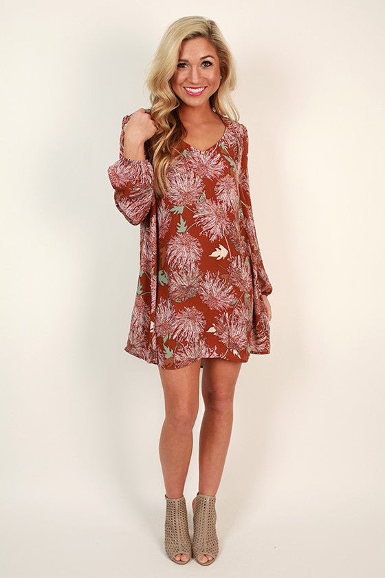 Luxury in London Shift Dress in Floral Print