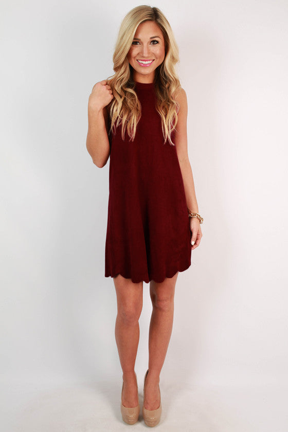 Soho Spotlight Faux Suede Shift Dress