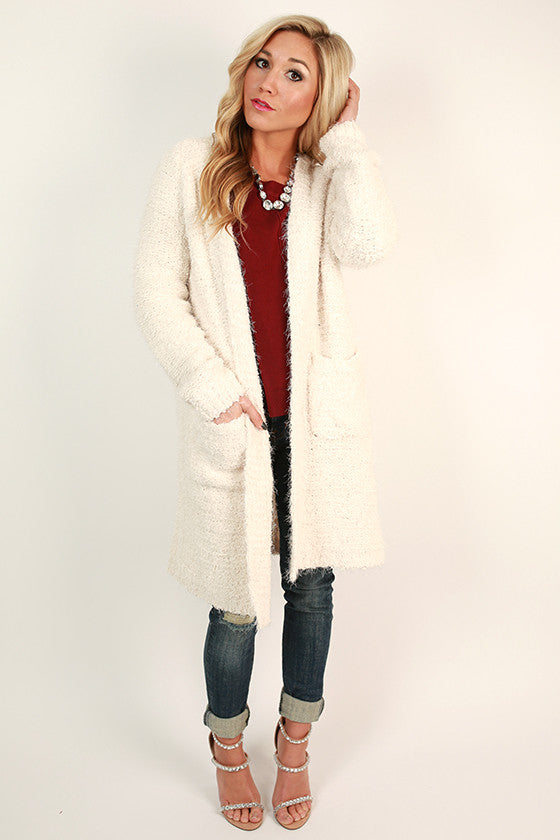 Top of the Rock Cozy Cardigan in Ivory