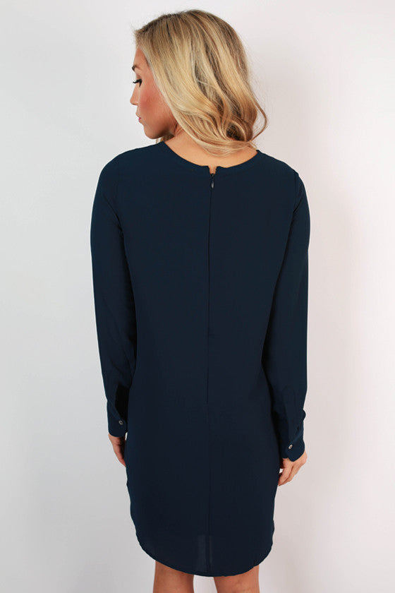 Weekend in Vermont Shift Dress in Navy
