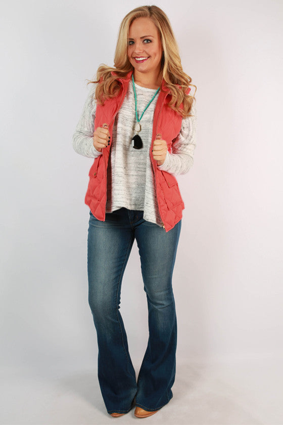 Southern Prep Quilted Vest in Calypso