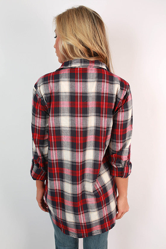 Flannel By The Fire Top