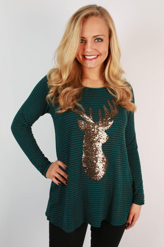 Reindeer Games Stripe Top