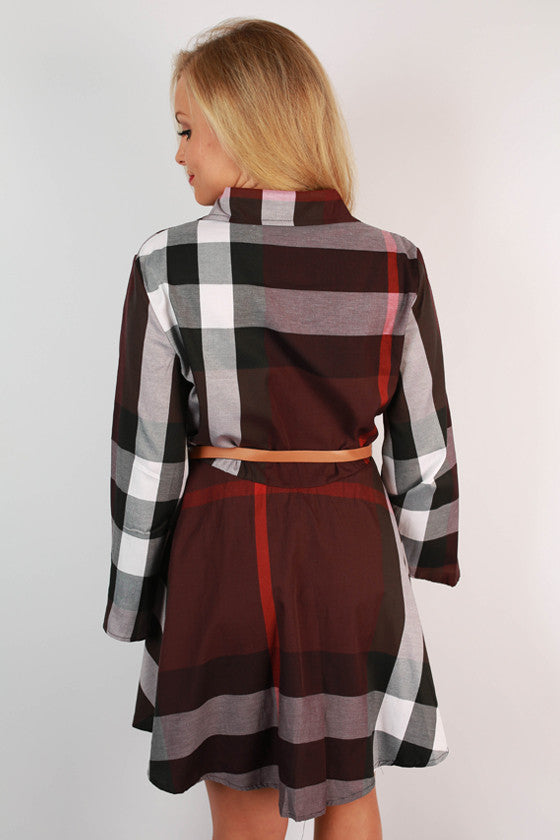 Autumn Days Plaid Dress