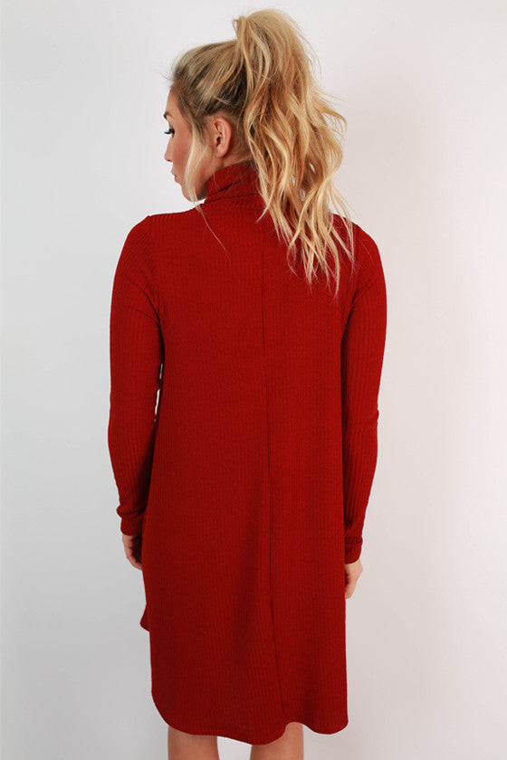 Modern Day Romance Shift Dress in Crimson