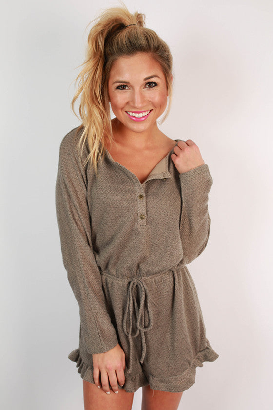 Cozy Sunday Sweater Romper