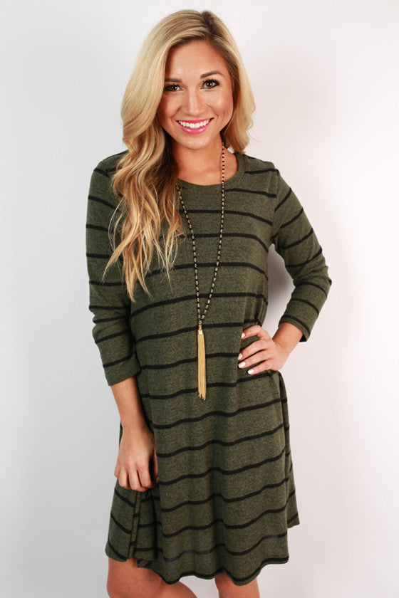 Stripe it to Me Shift Dress