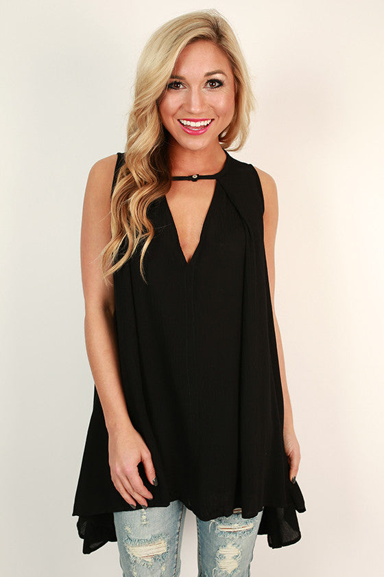 Vino Night Tunic in Black