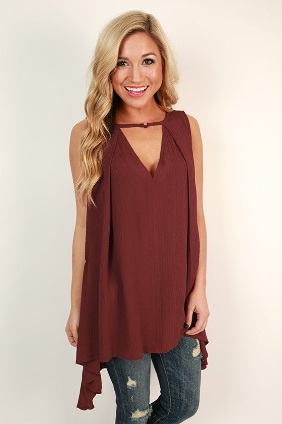 Vino Night Tunic in Crimson