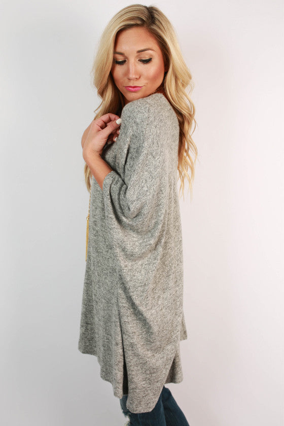 Cozy On Repeat Sweater Tunic in Grey