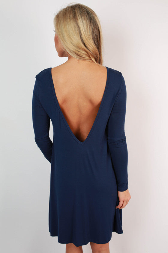 Constant Giggles Shift Dress in Navy
