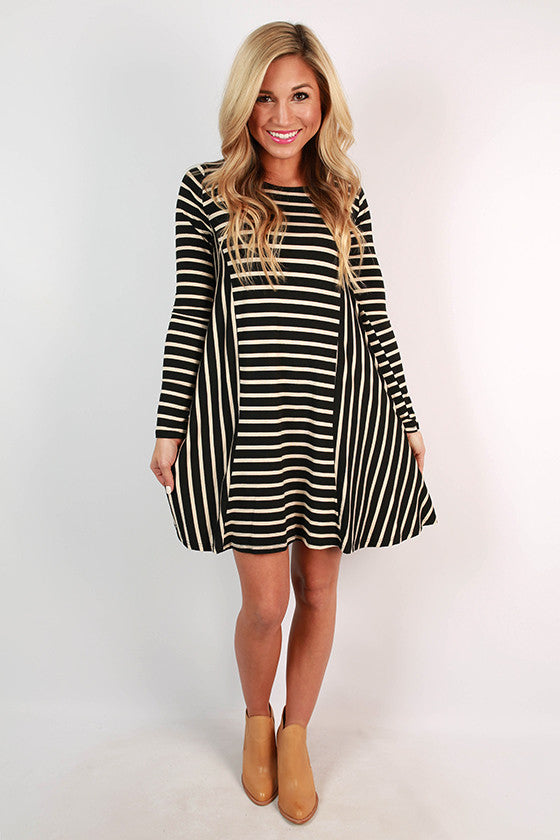Chic To Meet You Stripe Shift Dress
