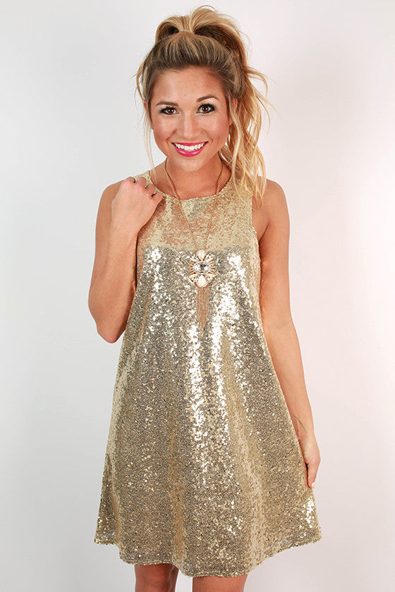 Sparkles for Days Shift Dress