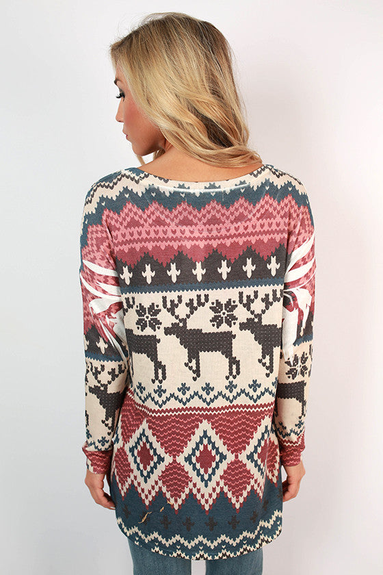 Cabin Cozy Printed Tunic