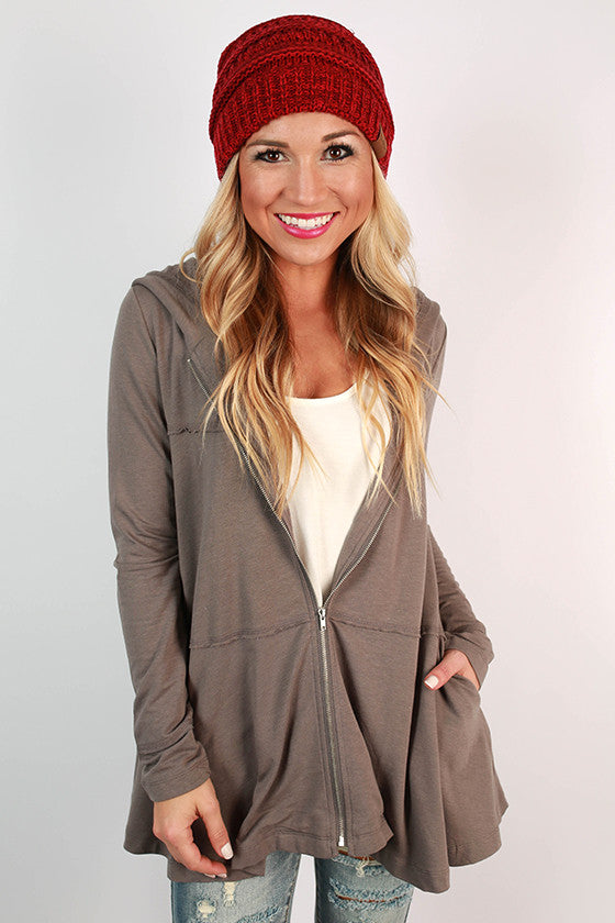 Cozy Chill Time Hoodie in Grey