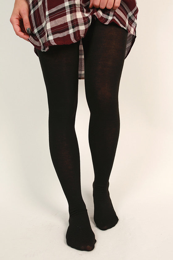 Knitted Tights in Black