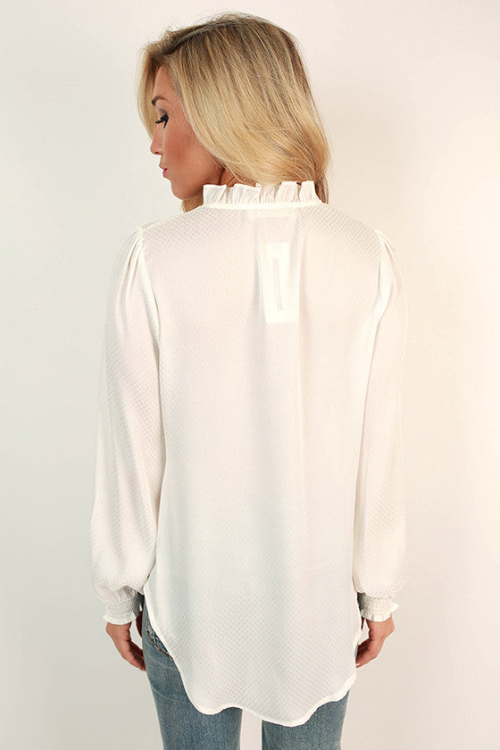 Cocktails in Paris Top in White