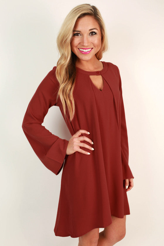Cappuccino Cuddles Shift Dress in Calypso
