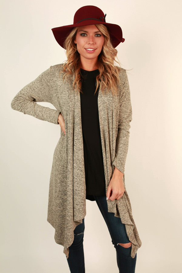 Cabin Cozy Cardigan in Grey
