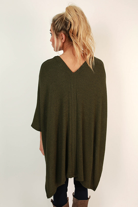 Cozy On Repeat Tunic in Army Green