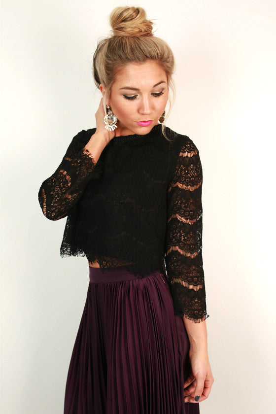 Twirling in Lace Crop Top