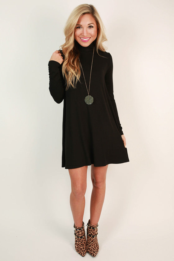 All The Perks Shift Dress in Black
