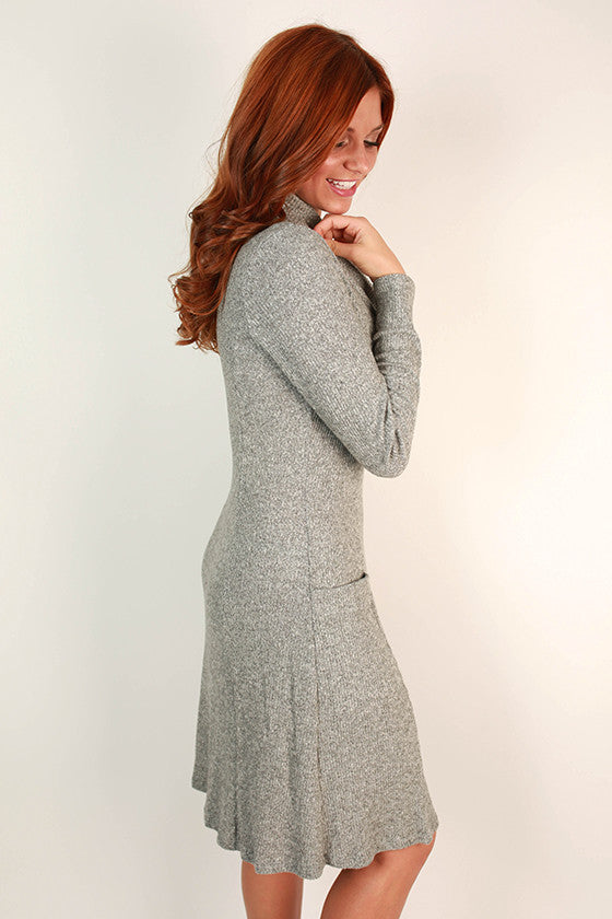 Martini Time Dress in Grey