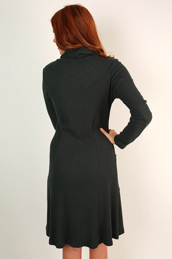 Martini Time Dress in Dark Teal