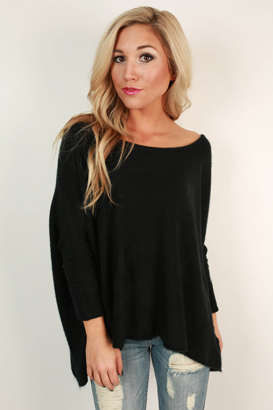 Latte of Cozy Sweater in Black