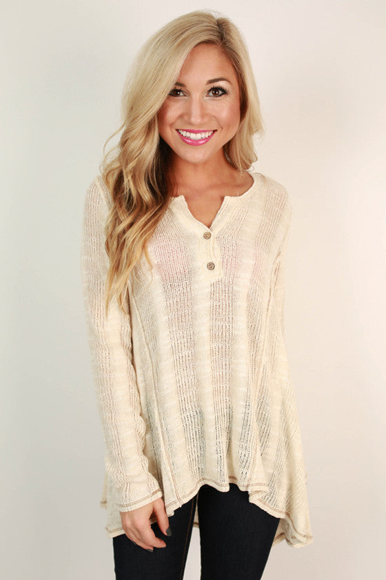 Knitted Love Henley Top
