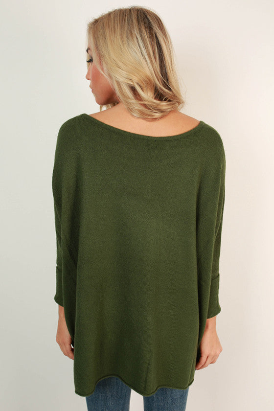 Latte of Cozy Sweater in Olive