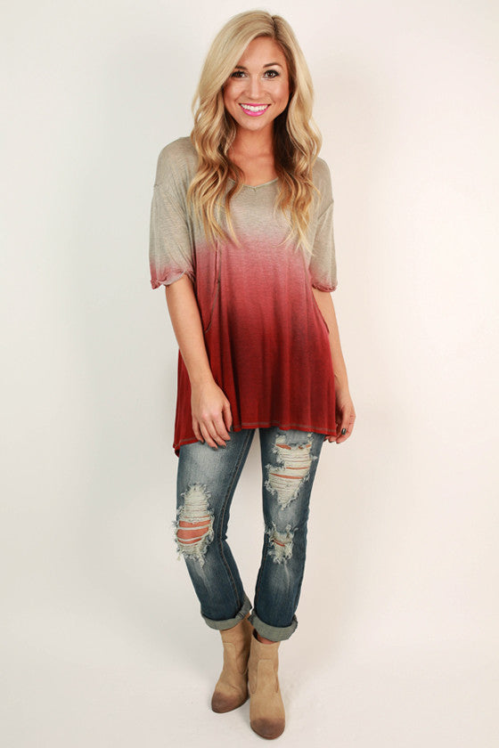 Peppermint Pretty Ombre Top