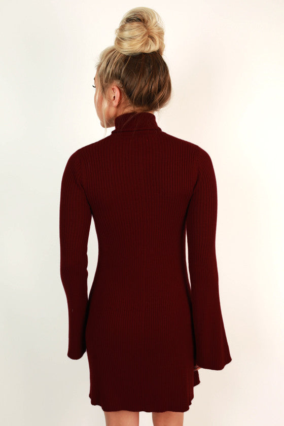 Gracefully Yours Dress in Cabernet