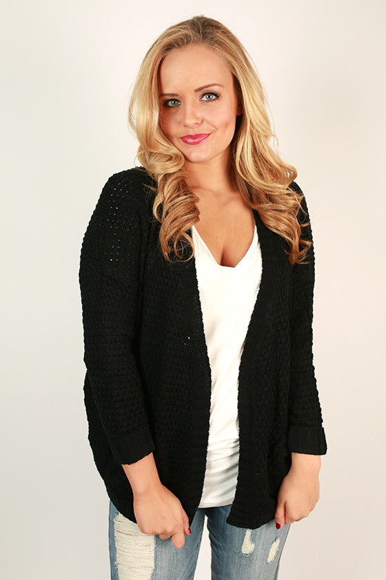 The Good Luck Cardigan in Black