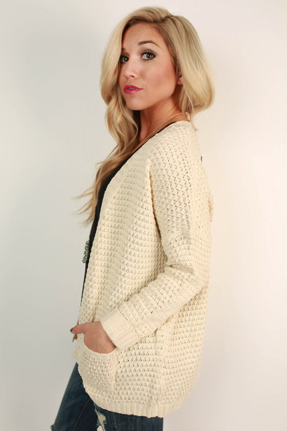 The Good Luck Cardigan in Ivory