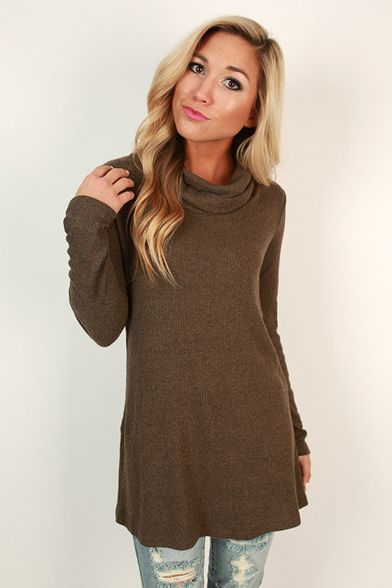 Always In Good Spirits Tunic in Mocha