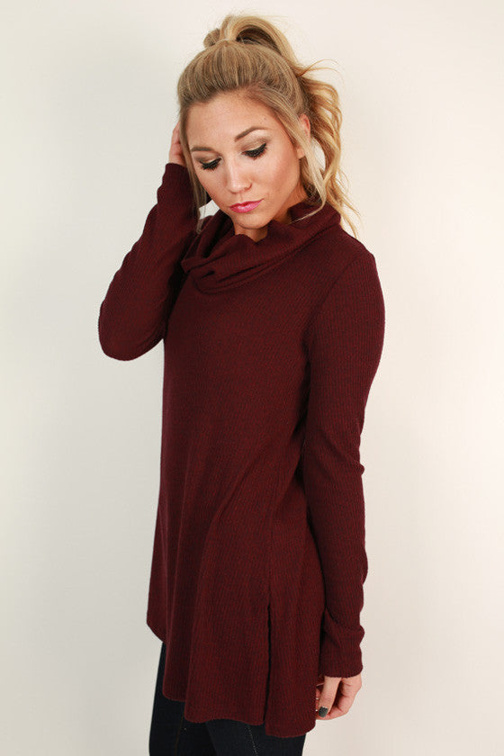 Always In Good Spirits Tunic in Windsor Wine