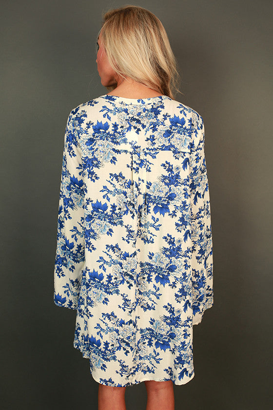 Sights on Santorini Floral Tunic