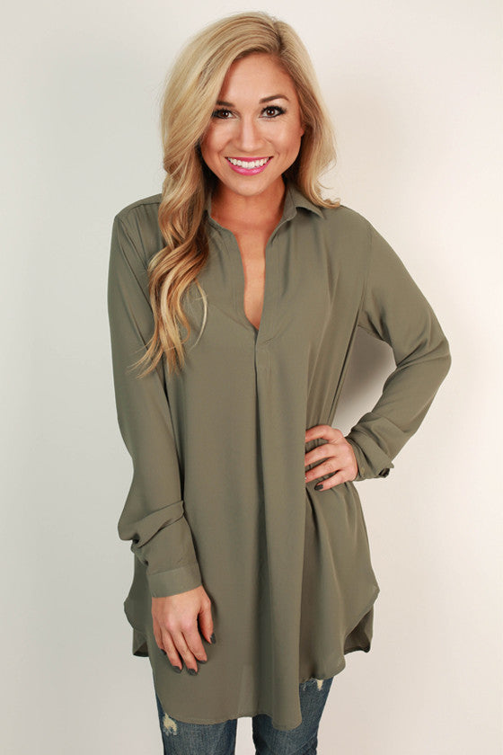Make Way For Beautiful Top in Sage