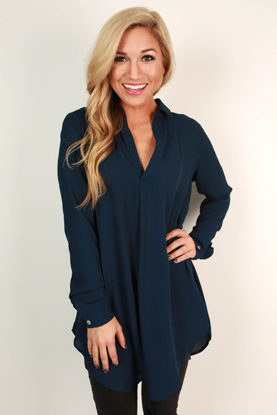 Make Way For Beautiful Top in Navy