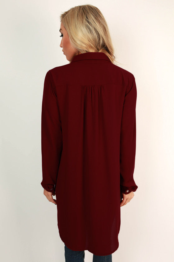 Make Way For Beautiful Top in Ruby Wine