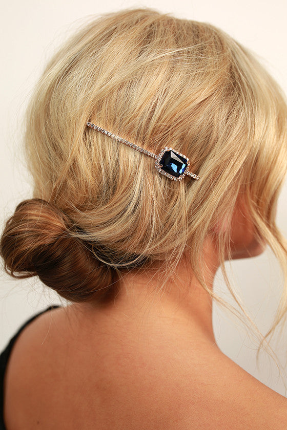 Glam It On Hair Pin in Sapphire