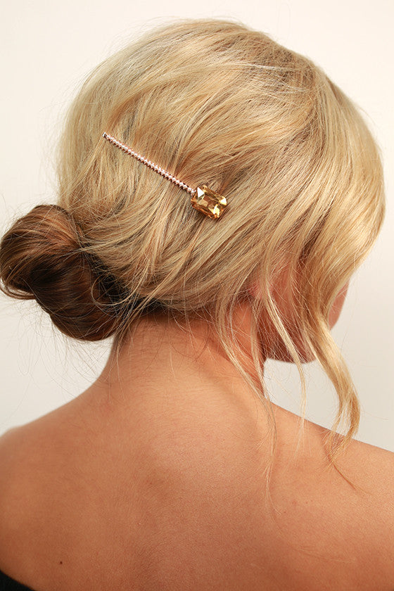 Season To Sparkle Hair Pin in Champagne