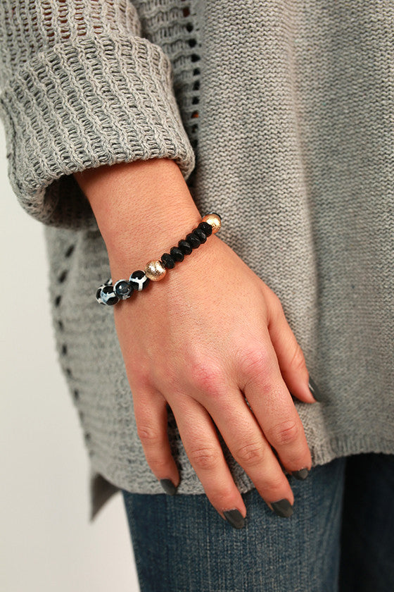 Fashion Week Marble Stackable Bracelet in Black